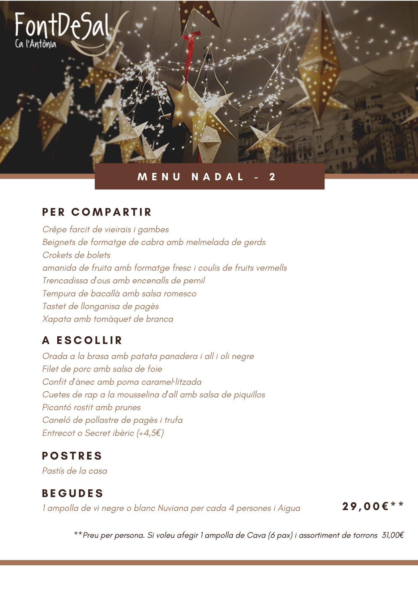 menu 2 nadal font de sal
